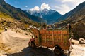 Pakistani truck along the Karakoram Highway