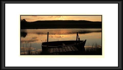 framed Boat on the Black Loch RS