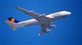 Lufthansa B-747 (from 3 miles away)