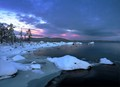 The lake freezes