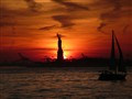 sunset from Battery Park, NYC