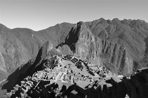 Classic Macchu Picchu in BW