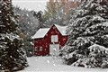 Barn in First Snow