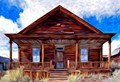 """One of a collection of buildings in Bodie, California which are preserved in a state of """"arrested decay"""" by the park service. Seiler House is occupied year round by a park service employee."""