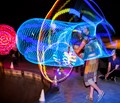 Venice Beach Dancer with LED Hula Hoop