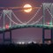 Newport Bridge Moonrise