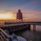 Charlevoix Lighthouse at Sunset-2