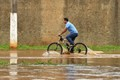 Biking on the flood