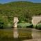 Corsica - former railway bridge across river Canella: just tracks and pillars left