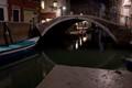 Ponte and Rio San Stin in Venezia at night