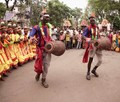 Dance-Tribal Santhal -on street-occasion-