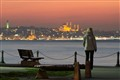 contemplating a sunset over Istanbul