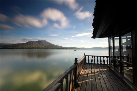 Beautiful Morning at Batur Lake