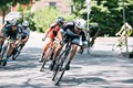 A cyclist leads the chase to catch the lone leader during the 2015 Nittany Stage Race.
