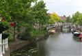 Lovely canal in the center of Leiden.