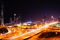 Dubai Midnight Busy Lights