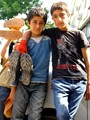 A couple of young shoe shiners in Siirt, Turkey. Sad fate they are destined to, but at least they're in it together.