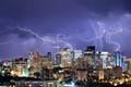 Electrical storm over Edmonton, Alberta Canada