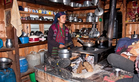 Kitchen in Lho Village, Nepal-1