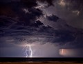 Storm over ocean