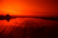 Red sunset on Chobe river