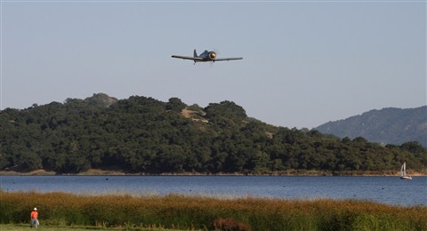 Focke-Wolf Over Lake Casitas, CA