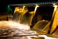 Scrivener Dam in flood
