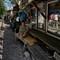 life along tracks: life along tracks, Makkasan, Bangkok, Thailand. November 2018