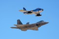 F-86 Sabres and F-22 Raptor