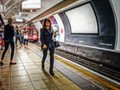 Central Line London Underground - never really alone