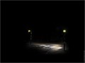 Zebra crossing, at night