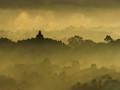 Morning myst in Borobudur