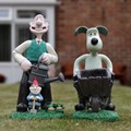 Wallace & Gromit with a guest Gnome