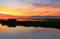 Sunset at Steveston Beach