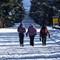 trio at fishing bridge snow