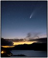 NEOWISE Over Lake Sonoma at Sunset