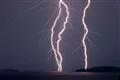 Lightning over the Narrows. Flathead Lake, Polson, MT
