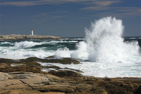 Peggys Cove splash