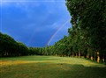 Two Rainbows in me back yard