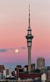 Moon Rise over Downtown Auckland