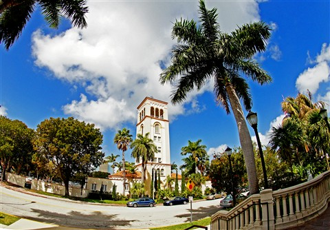 Bell tower St. Patrick Church Miami Beach
