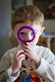 Grandson with Magnifying Glass