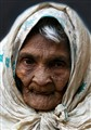 Wrinkled old lady