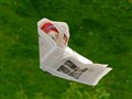 Flying newspaper