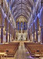 Saint Francis Xavier Church, at Saint Louis University, in Saint Louis, Missouri, USA - nave