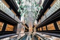 modern elevator lobby overhead view