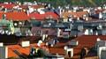 Man on Prague rooftop