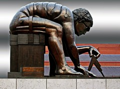 Isaac Newton - British Library - by Eduard Paolozzi