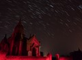 shot in Bagan, Myanmar using live composite OLY function for star trails, temle lit up with a small head torch