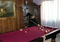 billiard in old-fashioned scenery